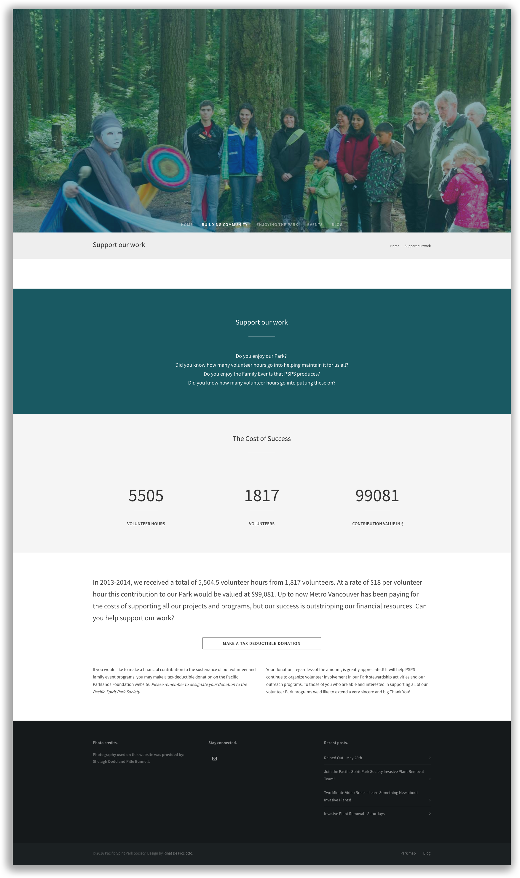 PSPS Site inner page